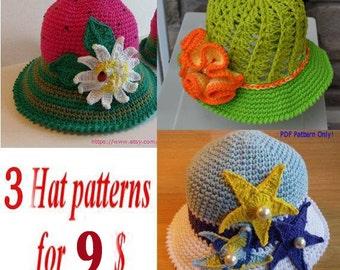 CROCHET PATTERN, Pattern Sale, Free Crochet Pattern, Crochet Hat Patterns, Summer Crochet Hat Sale, Special, Promotion, Crochet Hat Patterns