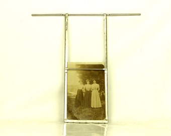 Vintage photo lab metal frame - unusual home decoration item