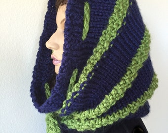 Snood, Tube Scarf, Neck Warmer, Chunky Cowl Scarf