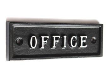 Office Room Door Signs For Business Country Style Cast Iron Traditional Style Signs ~ BRITISH MADE ~ ROOM-04-bl