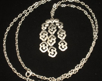 Trifari Statement Necklace Combo Shiny and Matte Finishes Double Chain