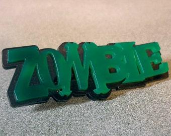 ZOMBIELOVE : Acrylic lasercut badge