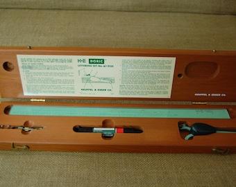 Vintage Keuffel & Esser Doric lette set, draftmans tools, architects tools, drawing tools, drafting instruments, draftsmans lettering tools