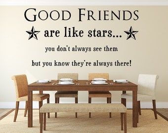 Lovely Good Friends Are Like Stars Wall Quotes / Wall Art / Wall Decal / Inspirational  Quote Pictures