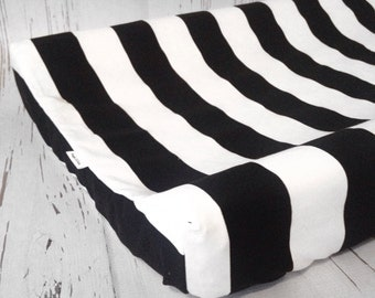Black stripe changing pad cover, avail. in different colors