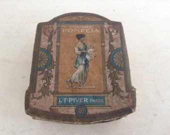 Antique French Powder Box L.T Piver Paris