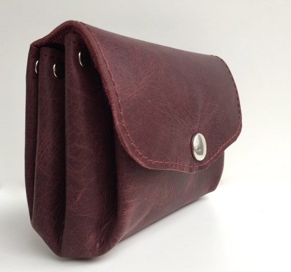 Wallet leather , red leather wallet  , leather purse, leather wallet