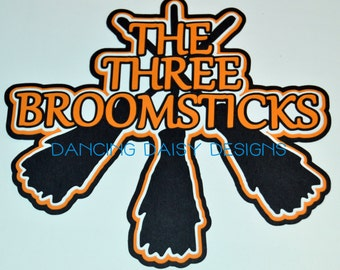 Harry Potter Scrapbook Die Cut,  The Wizarding World of Harry Potter, The Three Broomsticks Title, Universal Studios Die cut