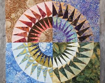 New York Beauty Quilt Block Paper Piecing Pattern - Block 9