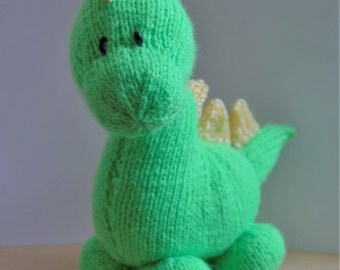 KNITTING PATTERN - Dinky Dino Dinosaur Knitting Pattern Download From Knitting by Post