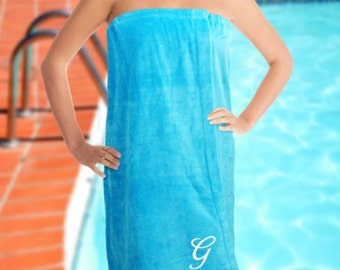Personalized Embroidered Initial Spa Wrap
