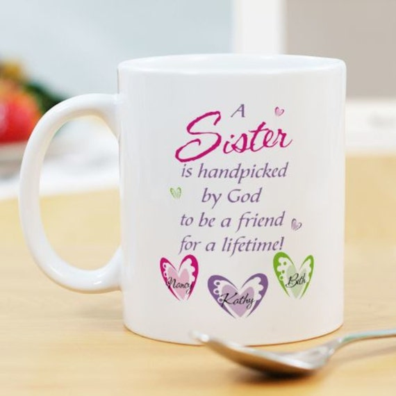 Items similar to Personalized Sisters Friendship Coffee ...