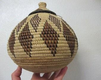 Zulu Basket African Basket African Covered Basket