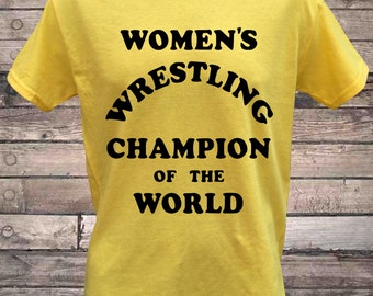 Womens Wrestling Champion of the World Intergender Wrestling T-Shirt
