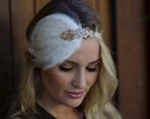 Gold 1920s headband champagne gatsby headpiece flapper fascinator Art Deco wedding flapper Gatsby headpiece, Beaded headband, headpiece