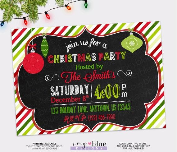 Retro Christmas Party Invitations: Retro Christmas Party Invitation- Christmas Tree