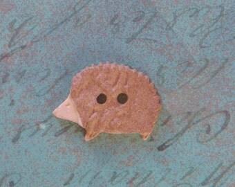 Hedgehog Button Plastic Textured Button
