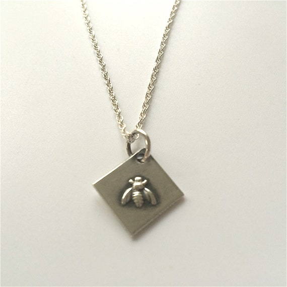 sterling silver bumble bee pendant necklace chain contemporary