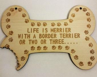 Border Terrier. Wooden Sign For Border Terrier. Dog.