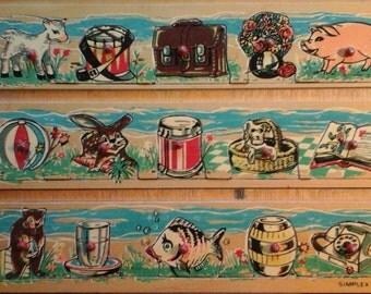 Vintage wooden Simplex puzzle...Jigsaw puzzle...animals...