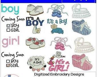 Embroidery Design CD - Baby(2) - 16 Designs - 9 Formats - Threadart
