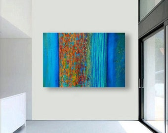 Abstract painting, Large Painting, Acrylic Painting, abstract ..Cascade Series-36x48-j