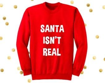 Santa Sweater Funny Santa Ugly Christmas Sweater by TrendingTops
