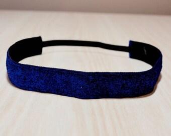 Non-Slip Headband - Glitter, Navy Blue