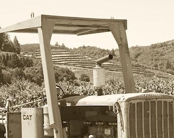 Northern California Tractor, Sonoma Valley, Sonoma County, Tractor photography, tractor art, tractor print, tractor decor, vinyard