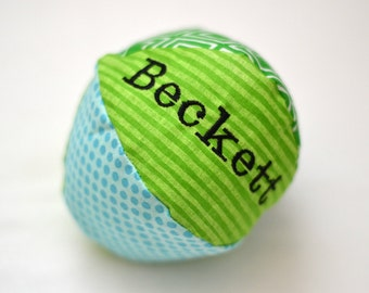 Baby Ball, Soft Baby Ball, Personalized Baby Ball, Plush Baby Toy, Plush Baby Ball, Free Shipping