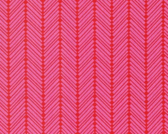 Half Yard - 1/2 Yard of Checkerbone  Watermelon - TRUE COLORS by Heather Bailey for Free Spirit Fabrics