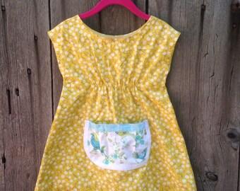 Size 2 toddler farmhouse dress pockets floral