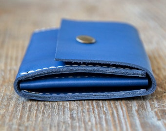 Leather personalized wallet, cash, card holder, coin holder, hand stitched, for men and women