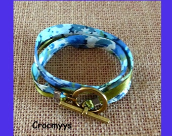 Liberty bracelet thorpe green and blue