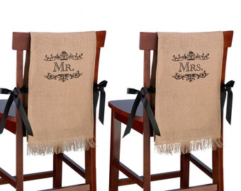 MR. and MRS. Burlap chair covers-LR