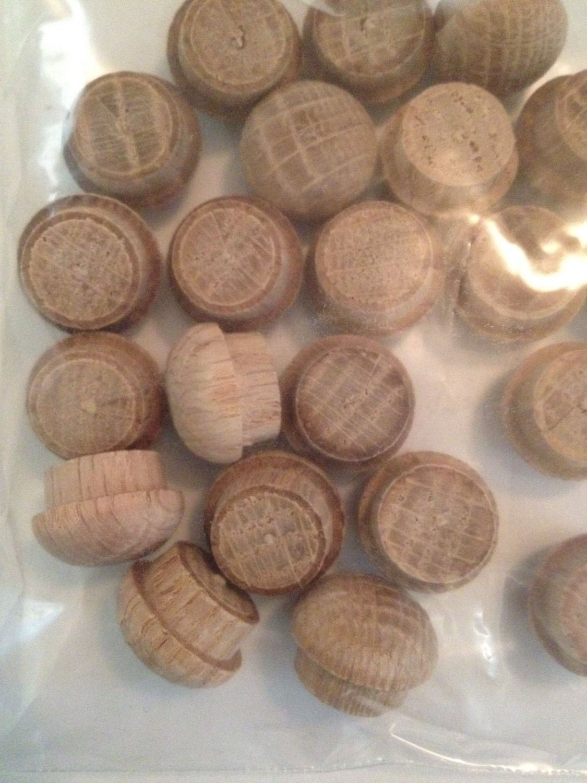 1 2 Furniture Wood Oak Mushroom Top Button Plugs