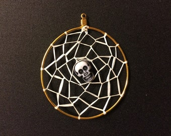 Skull Dream catcher Charm