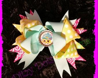 Cupcake Queen 6in Boutique Hair bow, Hair Bow
