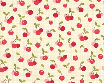 Farm Girl Cherry Pie Cream C5024-Cream by October Afternoon for Riley Blake Designs