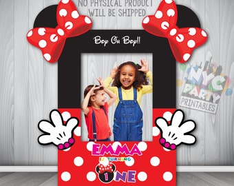 Minnie Mouse Party, Minnie Mouse Photo Booth,  Printable Minnie Mouse Photo Booth Frame, Minnie Mouse Birthday Party, Minnie First Birthday