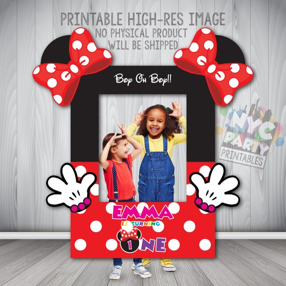 Minnie Mouse Photo Booth Frame, Minnie Mouse Photo Booth, Printable ...