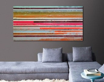 Painting, Abstract Art, Canvas Wall art, Popart multiple neon striped 466, On canvas, Original Art, Landscape Art, Abstract Painting