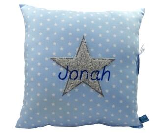 Name cushion star for boys