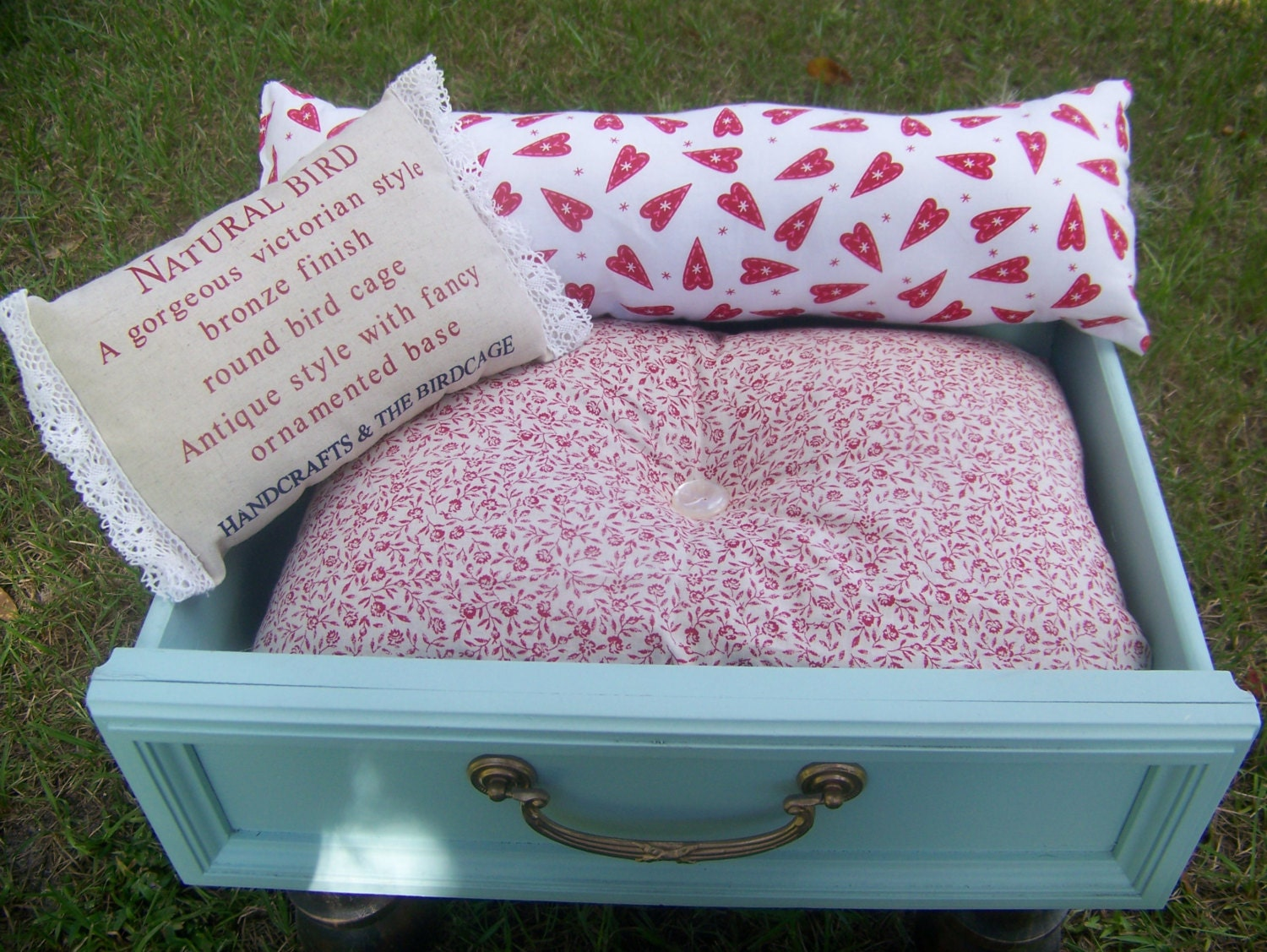 Pet bed shabby chic pet bed for kitty cat or small dog sale for Shabby chic dog