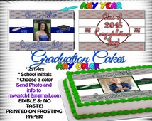 2016 Graduation Cake toppers, edible sugar sheets decal sticker transfer picture tops photo PHOTOGRAPH image paper ideas custom pinterest