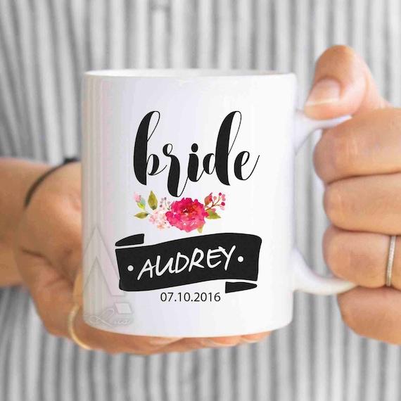 Personalized Wedding Favor Coffee Mugs : wedding cups, wedding mugs, bride coffee mug, wedding favors, bridal ...