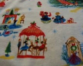 Pre-cut Christmas Flannel Baby Blankets