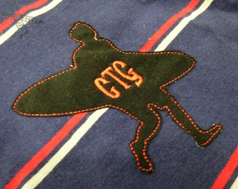Cool retro surfer machine appliqué and embroidery designs in several sizes and styles