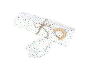 Organic Baby Shower Gift, Organic Baby Gift Set, Organic Baby Blanket Set