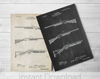 Browning Shotgun Printables, Gun Enthusiast, Firearm, Hunter Gift, Duck Hunting, Cabin Art, PP0754